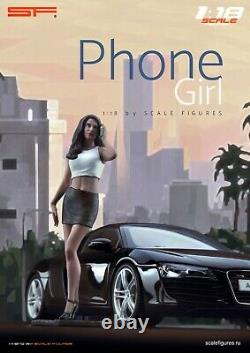 118 Phone Girl VERY RARE! Figurine, NO CARS! For CMC Autoart by SF