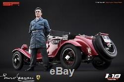 118 Young Enzo Ferrari VERY RARE! Figurine, NO CARS! For Alfa Romeo