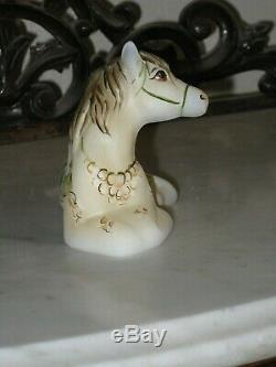 2019 Fenton HP Dragon Carousel Horse Pony Colt Animal Figurine Gse Le 11/12