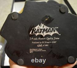 BATMAN MUSEUM QUALITY 14 STATUE Ltd Ed #728/1800 DC Direct w COA MIB