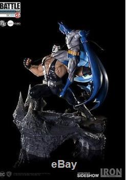 BATMAN vs BANE 1/6 DIORAMA STATUE Iron Studios SIDESHOW DC Limited Edition 400 D
