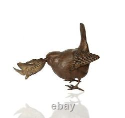 Bronze Wren with Feather Ltd Ed 150 Michael Simpson