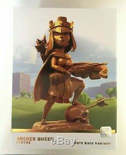 Clash of Clans Archer Queen Limited Edition Gold Statue SOLD OUT New in Box