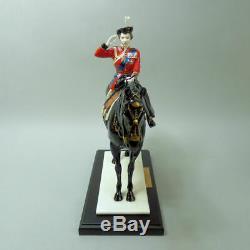 Coalport Queen Elizabeth II Trooping The Colour Ltd Edition Porcelain Figurine