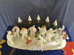 Coalport Snowmans Party Snowman Figurine Edition Ltd 500 Box +cert Xmas Gift