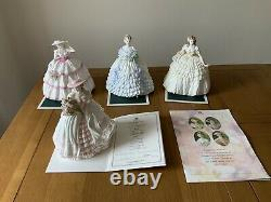Coalport figurines Four Flowers Collectionlimited Edition