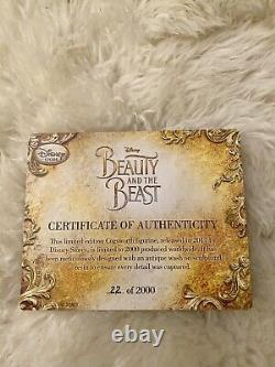 Disney Beauty And The Beast 2017 Cogsworth Clock Limited Edition