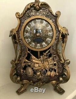 Disney Limited Edition Live Action Cogsworth Clock Beauty And The Beast Figure