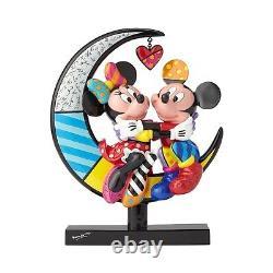 Disney Mickey & Minnie On Moon Figurine By Romero Britto Limited Edition