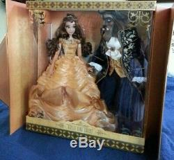 Disney Store Beauty And The Beast Platinum Limited Edition Dolls Nrfb 1 Of 500
