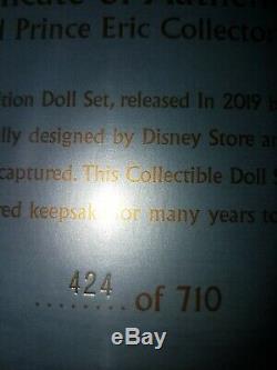 Disney Store Limited Edition Doll Ariel & Eric Platinum Wedding Set BNIB