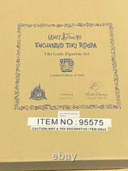 Disneyland Enchanted Tiki Room Tiki Gods Figurine Set Ltd Ed 1000 Mib