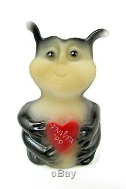 Fenton HP Love / Luv Bug Made for PNWFA 1999 Membership Souvenir Extremely Rare