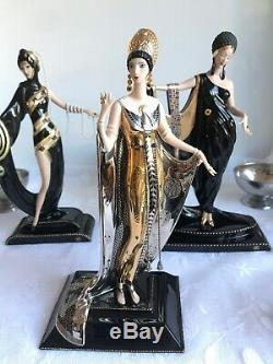 Franklin Mint House Of Erté Figurine Art Deco Collector Set Of 9 Limited Edition