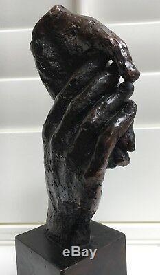 Friendship pure bronze hotcast abstract sculpture Uk artist foundry, Ltd edition