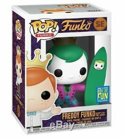 Funko Pop! Freddy Funko Surf's Up Batman And Joker Ltd #se Rare Uk Stock