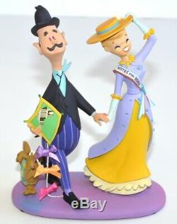 George, Winifred Banks, Andrew the Dog Figure Limited Edition, Disneyland Paris