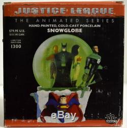 Hand Painted SNOWGLOBE DC Direct Justice League Animated Ltd Ed #794/1300