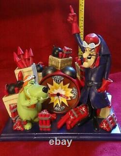 Hanna-Barbera Muttley & Dick Dastardly Double Drat Ltd Clock Figure Wacky Races