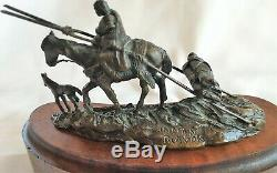 Harvey Rattey Indian Travois Bronze Limited Edition statue 87/20 Listed Artist