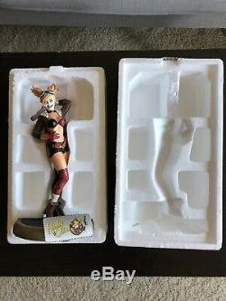 LIMITED EDITION DC Bombshells Statue Harley Quinn #3378/5200 1ST EDITION