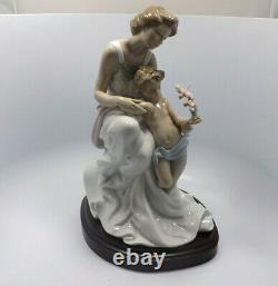 Limited Edition # 417 Lladro Figurine #7649 Where Love Begins, with box, 13
