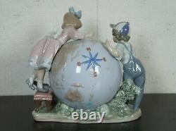 Lladro #5847 Voyage of Columbus Figurine Globe Children Signed Limited Edition