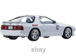 Mazda Savanna Rx-7 Fc3s (rhd) White & Figurine Initial D 1/18 Kyosho Ksr 18d03