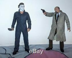 NECA HALLOWEEN STATUE Michael Myers & Dr Loomis (LTD ED 36 OF 300) HAND PAINTED