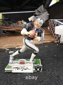 Oakland Raiders limited edition Kenny stabler hand signed porcelain figurine