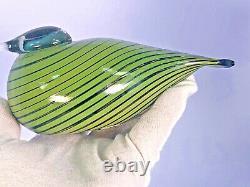 Oiva Toikka Whip Poor Will Whippoorwill Signed Glass Bird Iittala