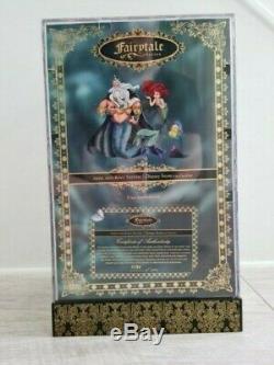 Rare DISNEY STORE Designer Fairytale Collection Ariel & King Triton Dolls