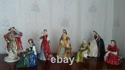 Rare Limited Edition Set Of Royal Doulton Figues, Henry VIII And His Six Wives