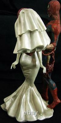 Rare Nib Marvel Comics Zombies Spiderman Mary Statue Figure 2392 0f 2500 Ltd Coa