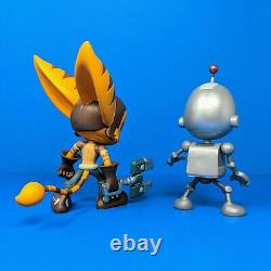 Ratchet & and Clank Limited Edition Vinyl Figure Statue Set Insomniac Games PS4