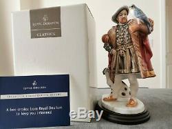 Royal Doulton Ltd Edition HN3350 Henry VIII Figure with wooden plinth