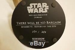 Star Wars Sideshow Collectables Luke Vs Rancor Diorama Limited Edition #150/250