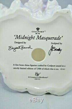 Superb Coalport Limited Edition Figurine Midnight Masquerade