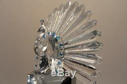 Swarovski Crystal Figurine 218123 Limited Edition The Peacock 7.5H 5432 / 10000