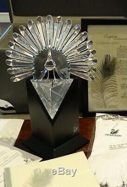 Swarovski Crystal Figurine 218123 Limited Edition The Peacock MIB
