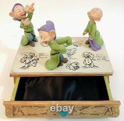 The Making Of Dopey Disney Dopey Limited Edition Jewelry Box With Figurines Mint