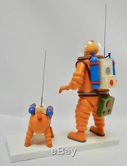 Tintin Herge Fariboles rocket Tintin / Snowy moon on ice ltd. 2000 pcs. + gift