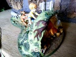 Winnie Pooh Wdcc Figurine Hooray, Pooh Will Soon Be Free, Huge Mint Ltd. Edition