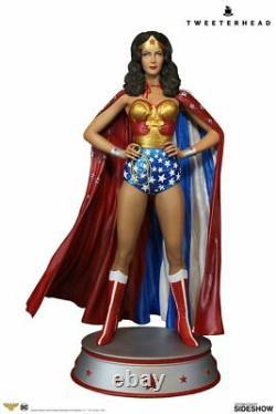 Wonder Woman Maquette Tweeterhead Lynda Carter Exclusive Cape Version- In Stock