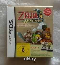 Zelda Spirit Tracks + Limited Edition German Presale Box + Figurines