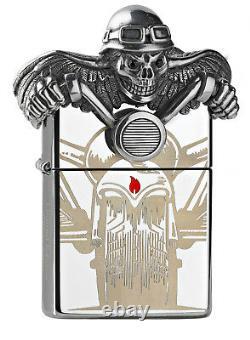 Zippo Death Rider limited edition xxx/2500 2005399 3D Figurine acryl box NEU+OVP